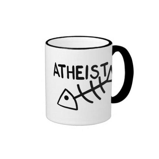 Pescados ateos tazas de café