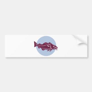 pescados atlánticos de los abadejos de los bacalao pegatina de parachoque