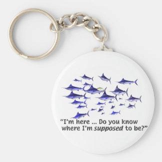Pescados - atún confuso llaveros