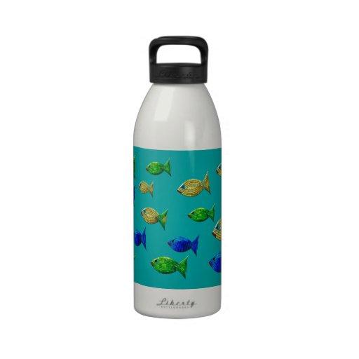 Pescados aztecas botellas de beber