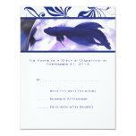 Pescados azules de Betta que casan la tarjeta de Comunicado Personal