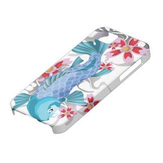 Pescados azules de Koi iPhone 5 Carcasas