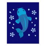 """Pescados azules de Koi Invitación 4.25"""" X 5.5"""""""