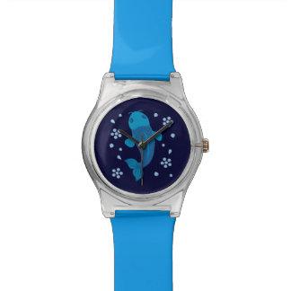 Pescados azules de Koi Relojes De Pulsera