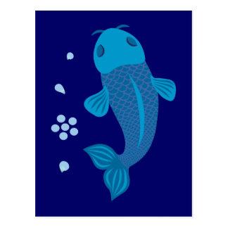 Pescados azules de Koi Postal