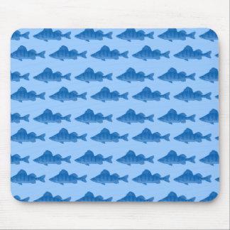 Pescados azules de la perca amarilla alfombrillas de ratones