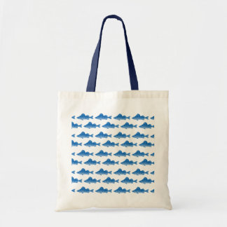 Pescados azules de la perca amarilla bolsa tela barata