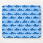 Pescados azules de la perca amarilla alfombrilla de ratón