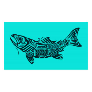Pescados azules del alcohol del Haida Tarjetas De Visita