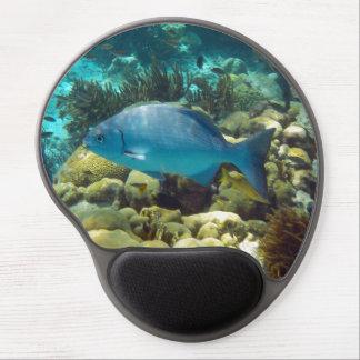Pescados azules del filón alfombrilla de raton con gel