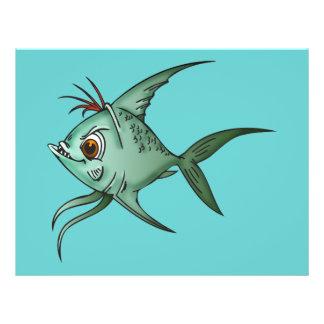"Pescados azules del Guppy Folleto 8.5"" X 11"""