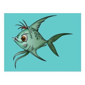 Pescados azules del Guppy Tarjeta Postal