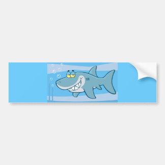 pescados azules divertidos del png_cartoon-shark-u pegatina de parachoque