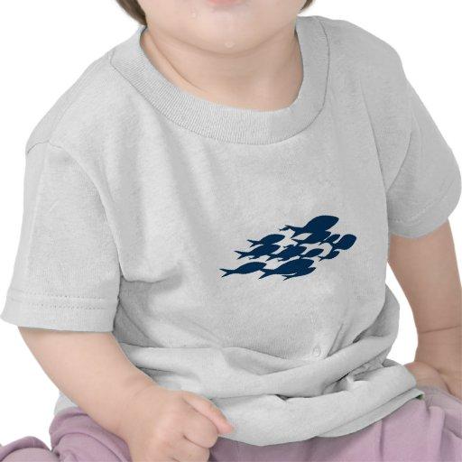 Pescados azules simples camiseta
