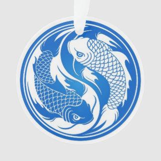 Pescados azules y blancos de Yin Yang Koi