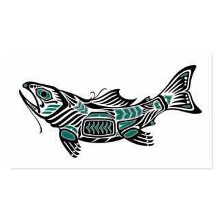 Pescados azules y negros del alcohol del Haida Plantillas De Tarjetas De Visita