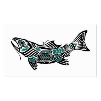 Pescados azules y negros del trullo del Haida del  Plantillas De Tarjeta De Negocio