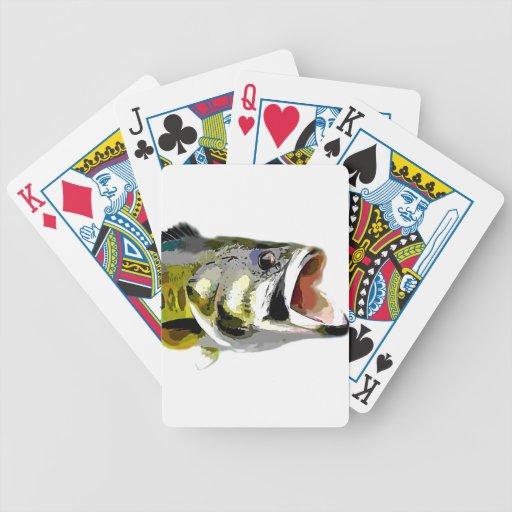 Pescados bajos barajas de cartas