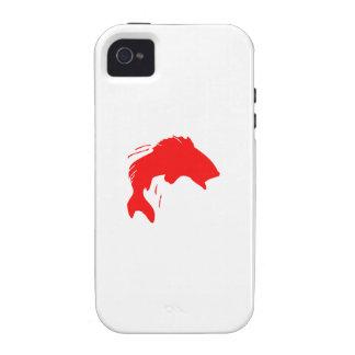 Pescados bajos rojos Case-Mate iPhone 4 carcasas