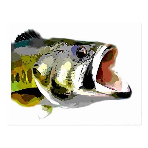 Pescados bajos tarjetas postales