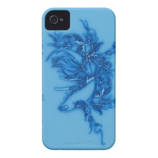 Pescados beta azules Case-Mate iPhone 4 coberturas