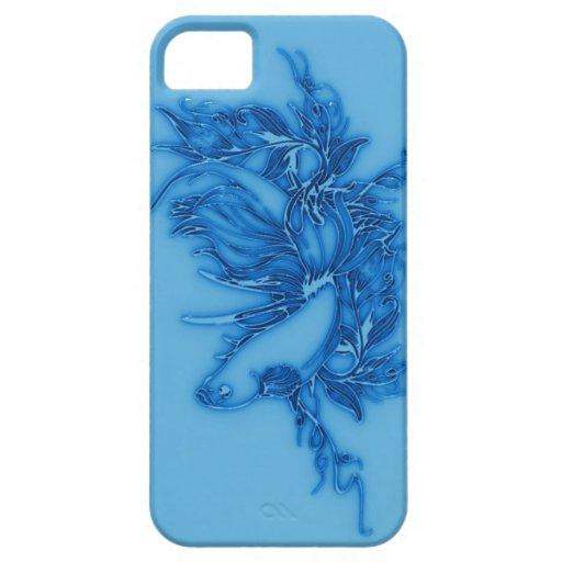 Pescados beta azules iPhone 5 Case-Mate cobertura