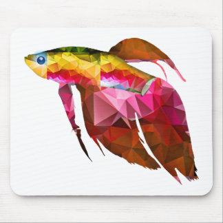 Pescados beta para el rosa del mosaico del mousepad