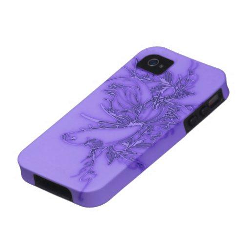 Pescados beta púrpuras iPhone 4/4S funda