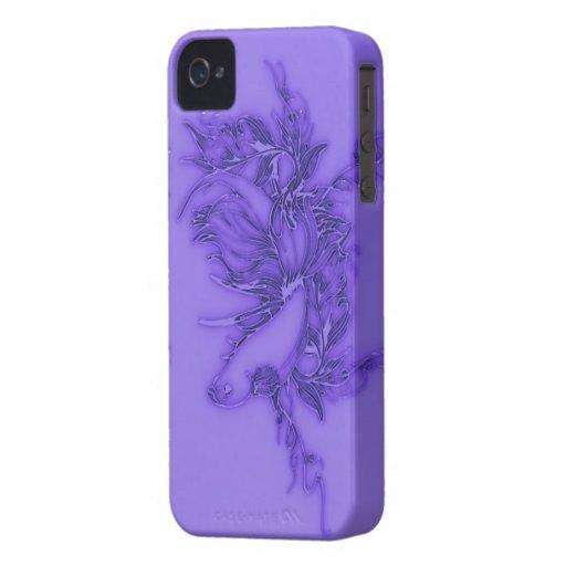 Pescados beta púrpuras iPhone 4 fundas
