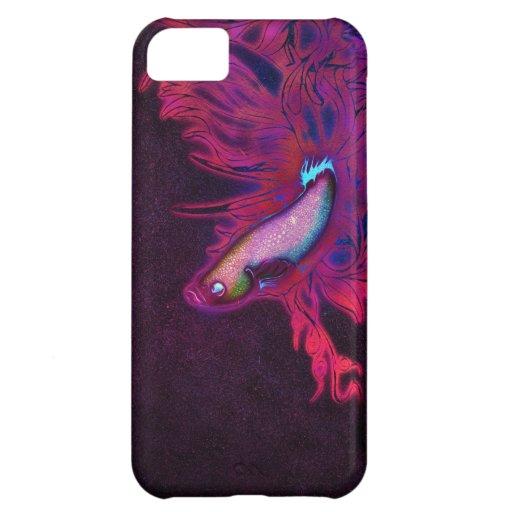 Pescados beta rosados, púrpuras, y azules brillant