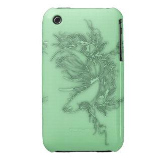 Pescados beta verdes carcasa para iPhone 3