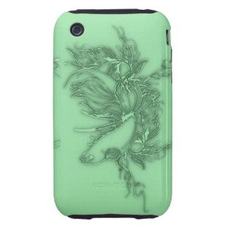 Pescados beta verdes carcasa though para iPhone 3