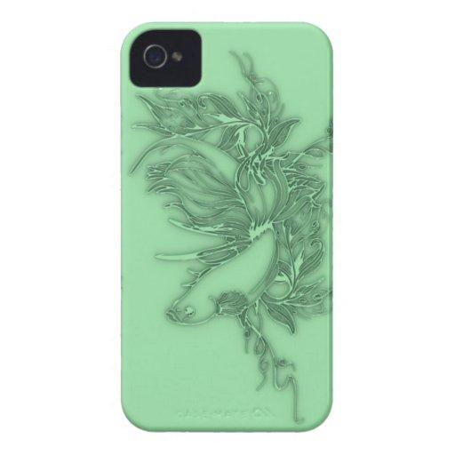 Pescados beta verdes Case-Mate iPhone 4 funda
