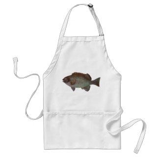 Pescados - Blackfish de la roca - elevata de Girel Delantal