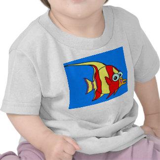 Pescados blancos de la camiseta infantil