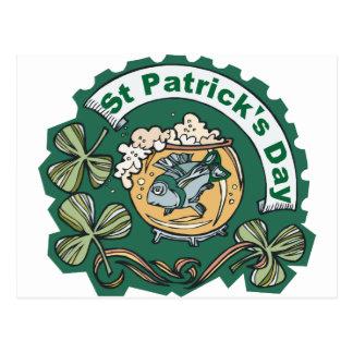 Pescados borrachos del día del St Patricks Tarjetas Postales