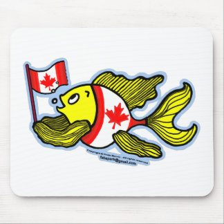 Pescados canadienses de la bandera alfombrilla de ratón