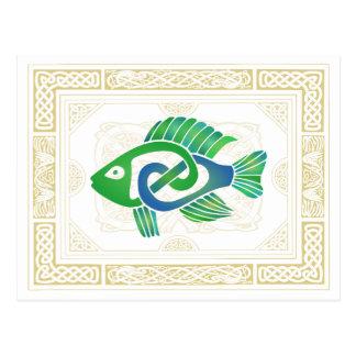 Pescados célticos tarjetas postales