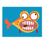 Pescados chiflados tarjeta postal