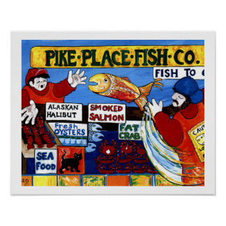 Pescados Co. del lugar de Pike Poster