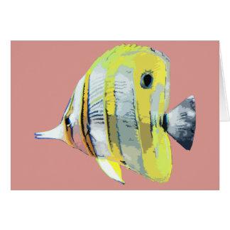pescados Cobre-congregados de la mariposa Felicitaciones