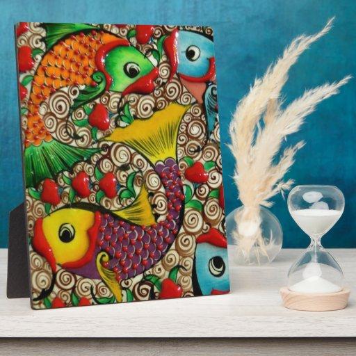 Pescados coloreados bonito placas