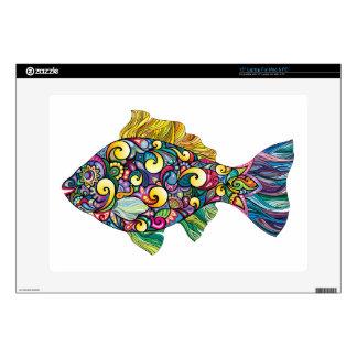 Pescados coloridos de la diversión calcomanías para portátiles