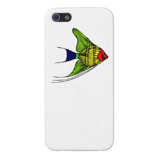 Pescados coloridos del ángel iPhone 5 cárcasas