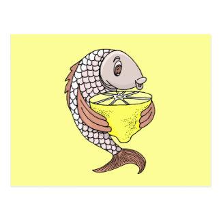 Pescados con el limón postal