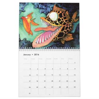 Pescados con la colección de la actitud por Mike Calendario De Pared