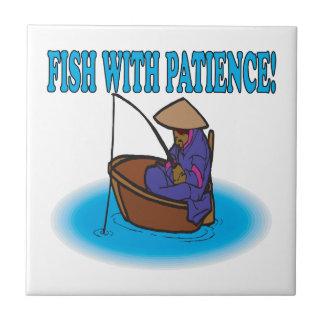 Pescados con paciencia teja cerámica