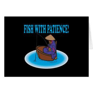 Pescados con paciencia tarjeton