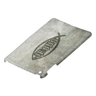 Pescados concretos urbanos Ichthys de Jesús iPad Mini Protectores