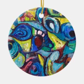 Pescados condenados al ostracismo (expresionismo ornamento para arbol de navidad
